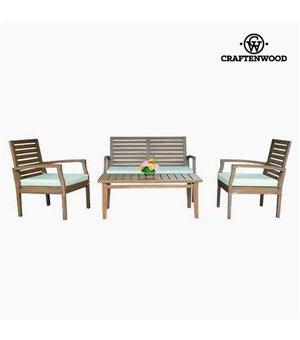 Wohnzimmer Sitzgruppe mit Tisch Teakholz (4 pcs) by Craftenwood