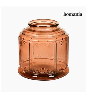 Kerzenleuchter Recyceltes glas (24 x 24 x 24 cm) by Homania
