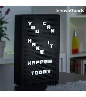 InnovaGoods Tafel mit Aufsteckbaren LED Buchstaben