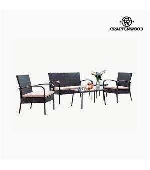 Wohnzimmer Sitzgruppe mit Tisch (5 pcs) by Craftenwood