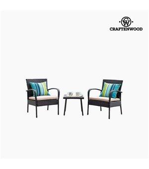 Tisch mit 2 Sesseln (3 pcs) by Craftenwood