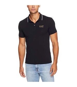 Herren Kurzarm-Poloshirt Armani Jeans 3GPF51 Schwarz