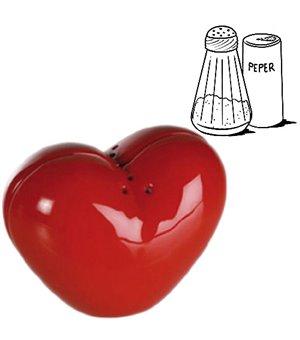 Herzförmiger Salz & Pfefferstreuer