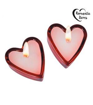 Herzförmige Duftkerzen (2er Set)