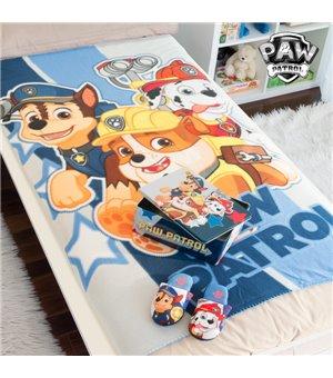 Paw Patrol Metallbox mit Decke und Hausschuhen