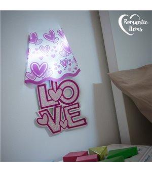 Romantic Items LED Heart Wall Sticker