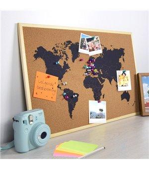 Weltkarte Notiztafel