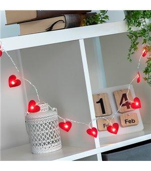LED-Lichterkette Herzen (10 LED)