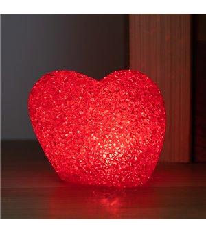 Glitzerndes Herz mit Mehrfarben-LED