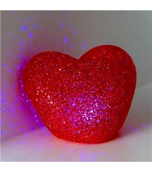 Glitzerndes Herz mit...