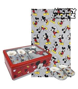 Metallbox mit Decke und Hausschuhen Mickey Mouse 73668