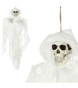 Hängendes Skelett (78 x 57 cm) Weiß