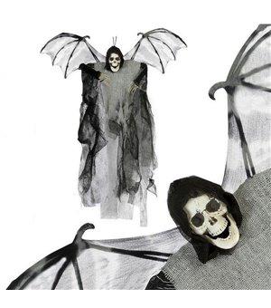 Hängendes Skelett (60 x 50 cm) Grau Flügel