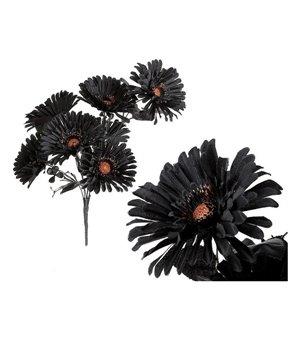 Deko-Blumen Halloween Schwarz