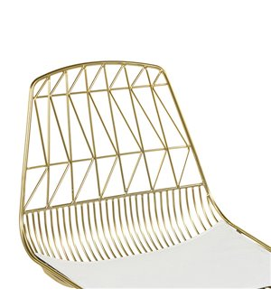 Esszimmerstuhl Metalic Zigzag (46 x 78 x 57 cm)