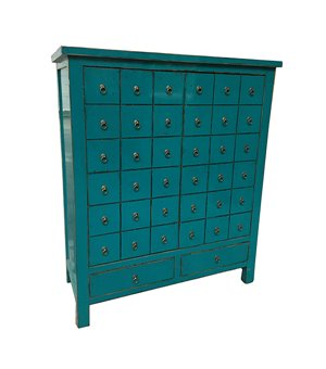 Schrank Blue Oriental (102 x 42 x 120 cm)