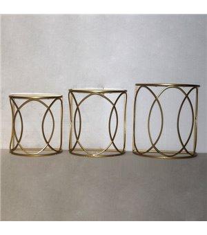 3er-Set Tischchen Golden (50 x 30 x 55 cm)