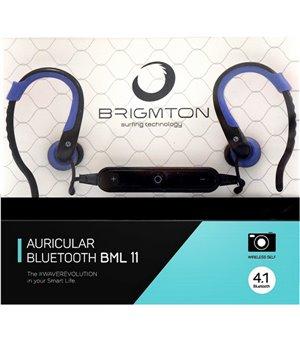 Bluetooth Sports Headset mit Mikrofon BRIGMTON BML-11-A Blau