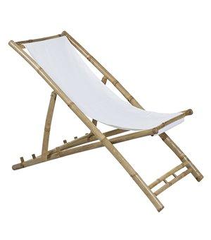 Stuhl (115 x 66 x 59 cm) Bambus Weiß