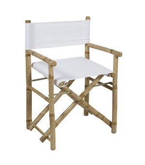 Stuhl (89 x 58 x 45 cm) Bambus Weiß