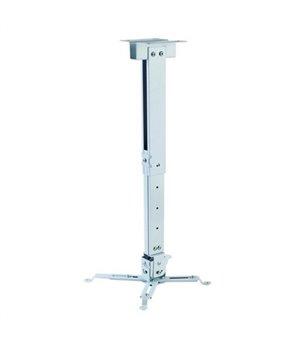 Verstellbare Deckenhalterung für Projektoren iggual STP02-M IGG314586 -22,5 - 22,5° -15 - 15° Aluminium Weiß