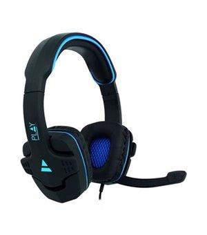 Gaming Headset mit Mikrofon Ewent PL3320 Schwarz Blau
