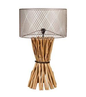 Tischlampe Holz (48 X 48 x 88 cm)