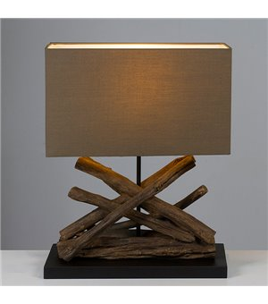 Tischlampe Akazienholz (40...