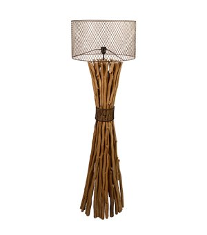Stehlampe Holz (48 X 48 x 148 cm)