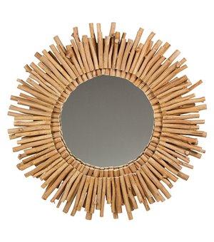 Spiegel Akazienholz (77 X 6 x 77 cm)