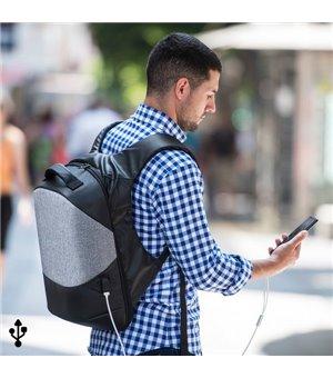 Diebstahlsicherer Rucksack mit USB und Laptop/Tablet Fach