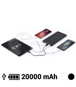 Power Bank 20000 mAh USB-C Lightning Micro USB 145784