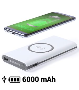 Drahtlose Powerbank 6000 mAh LED Micro USB 145783