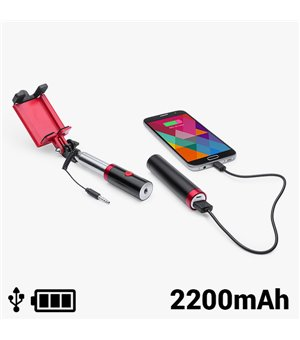 Selfie-Stab mit Power Bank 2200 mAh 145200