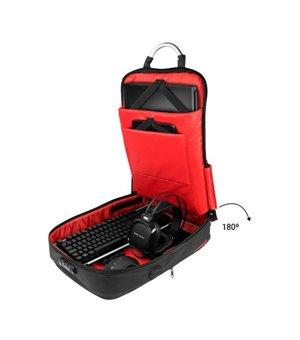 """Diebstahlsicherer Rucksack mit USB und Fach für Tablet und Laptop Mars Gaming MB2 17"""""""