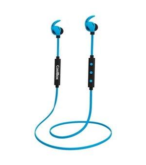 Bluetooth Kopfhörer mit Mikrofon CoolBox COOLSPORTII Blau