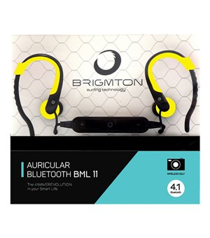 Bluetooth Sports Headset mit Mikrofon BRIGMTON BML-11 Gelb