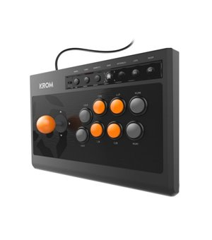 Gamepad Krom Kumite Schwarz Orange