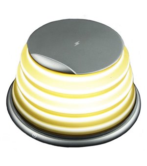 LED-Lampe mit kabellosem Ladegerät für Smartphones Qi