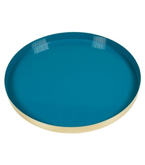 Schale Deko Messing Blau (40 X 40 x 4 cm)
