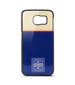 Handyhülle Samsung Galaxy S6 Munich Retro Line Polycarbonat Blau Weiß