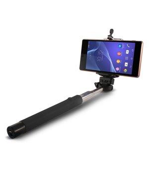 Ausziehbarer Bluetooth Selfie Stick 45 mAh Schwarz