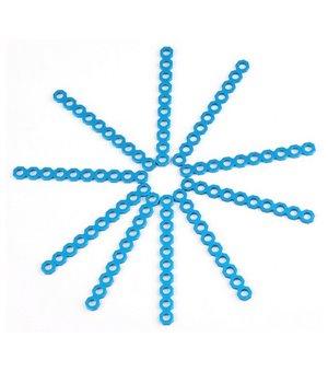 Kurzer Steckverbinder, schneidbar Makeblock 8 cm Blau (10 Uds)