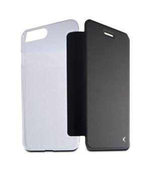 Handyhülle mit Folie Iphone 8 Plus Crystal Schwarz