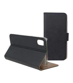 Handyhülle mit Folie Iphone X Wallet Schwarz