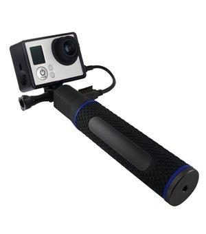 Selfie-Stab mit Powerbank...