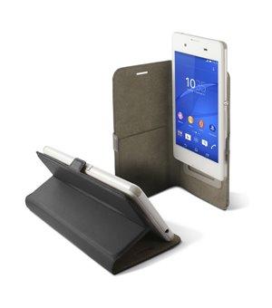 """Universal Handyhülle - Buch Smartphone 4,5"""" Slide Schwarz"""