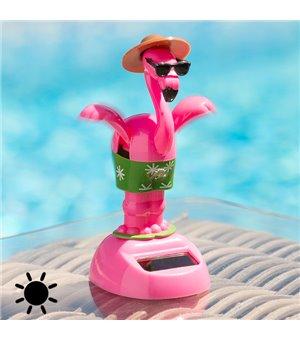 Tanzender Solar-Flamingo