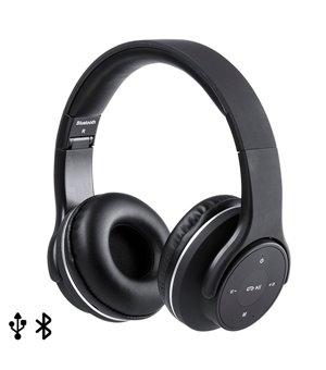 Faltbarer Haarreif Kopfhörer USB FM 6W Schwarz 146131