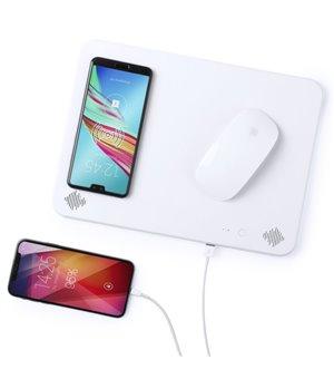 Mousepad mit Qi Wireless Ladegerät Bluetooth 4000 mAh 2W Weiß 146126